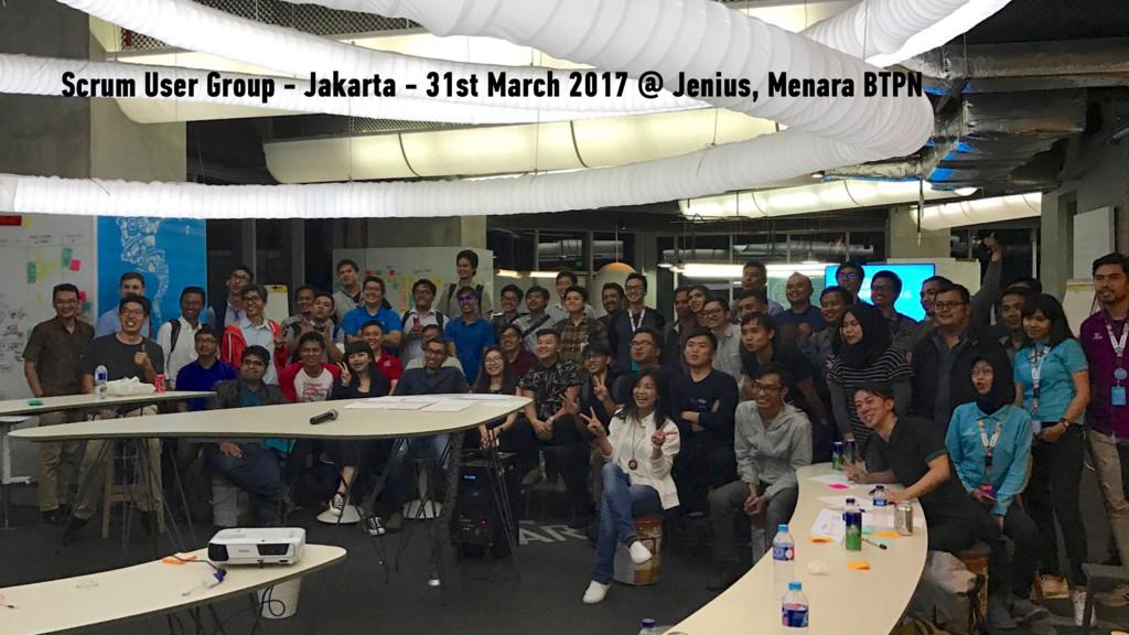 Scrum User Group - Jakarta - 31st March 2017 @ ...