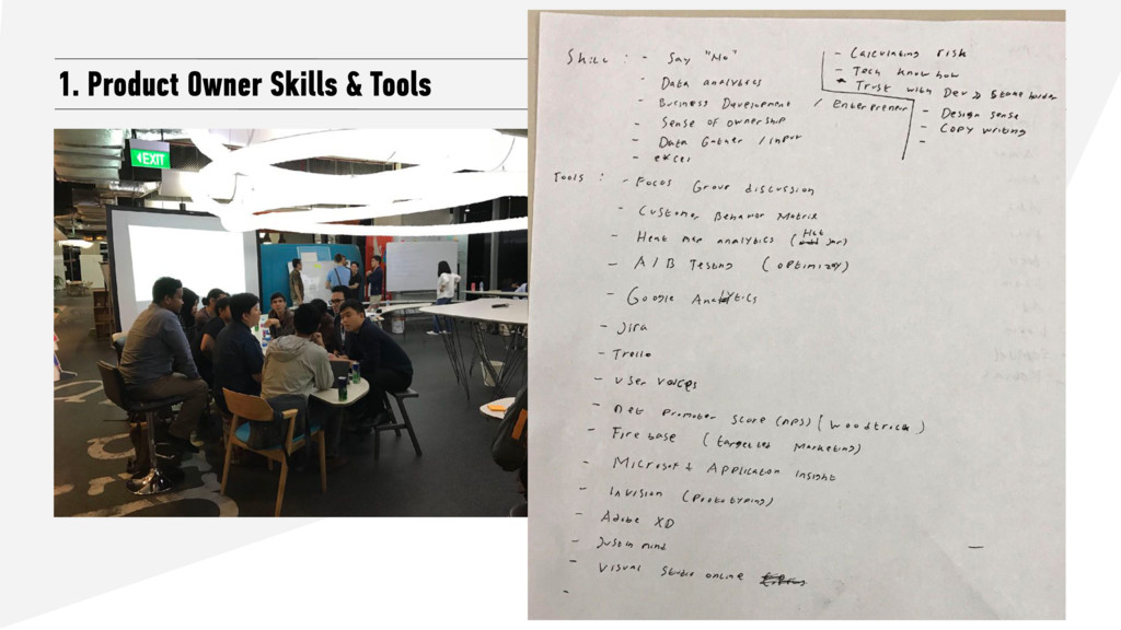 1. Product Owner Skills & Tools