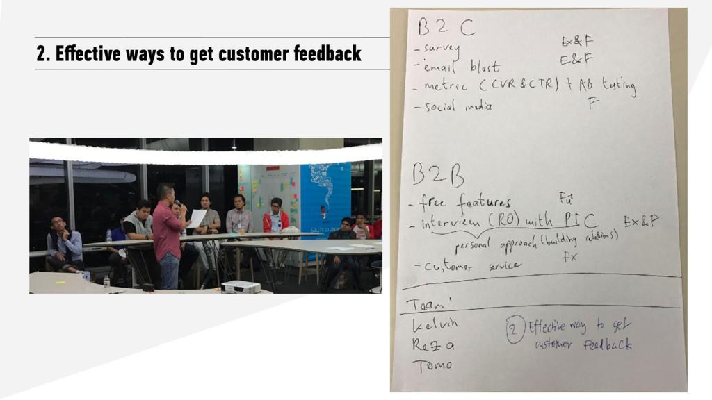 2. Effective ways to get customer feedback