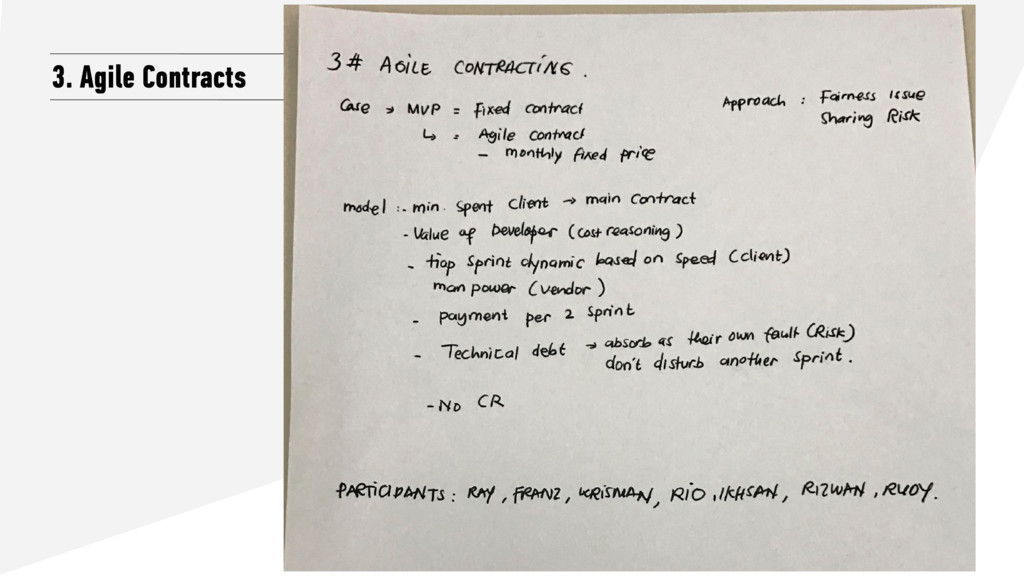 3. Agile Contracts
