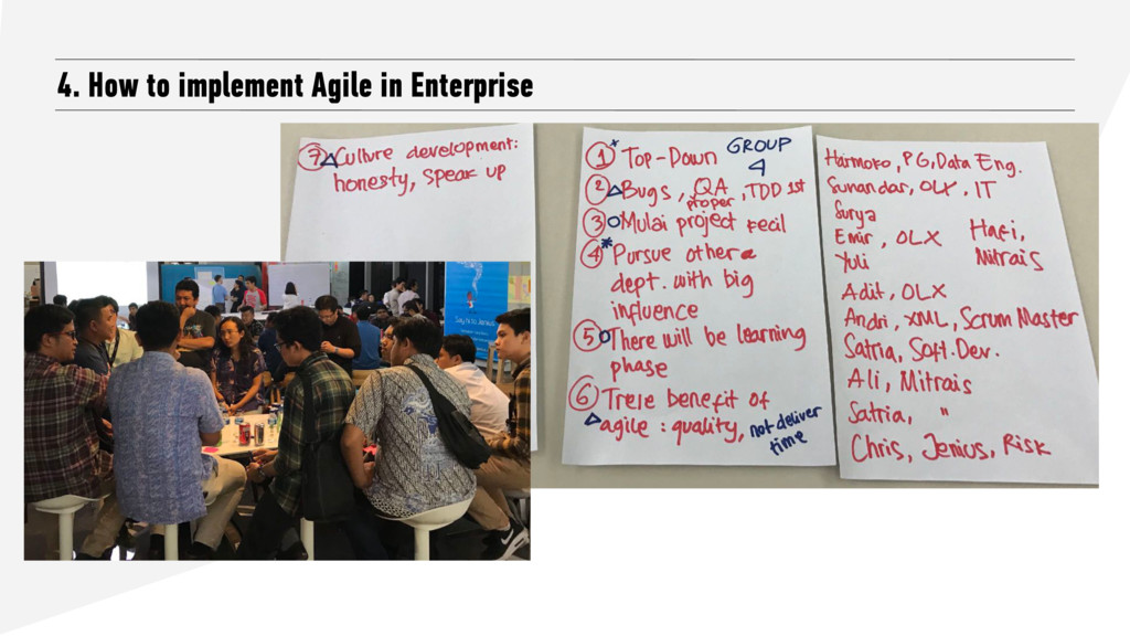 4. How to implement Agile in Enterprise