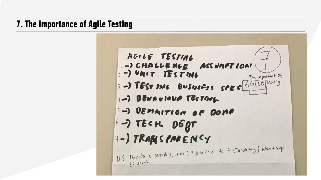 7. The Importance of Agile Testing