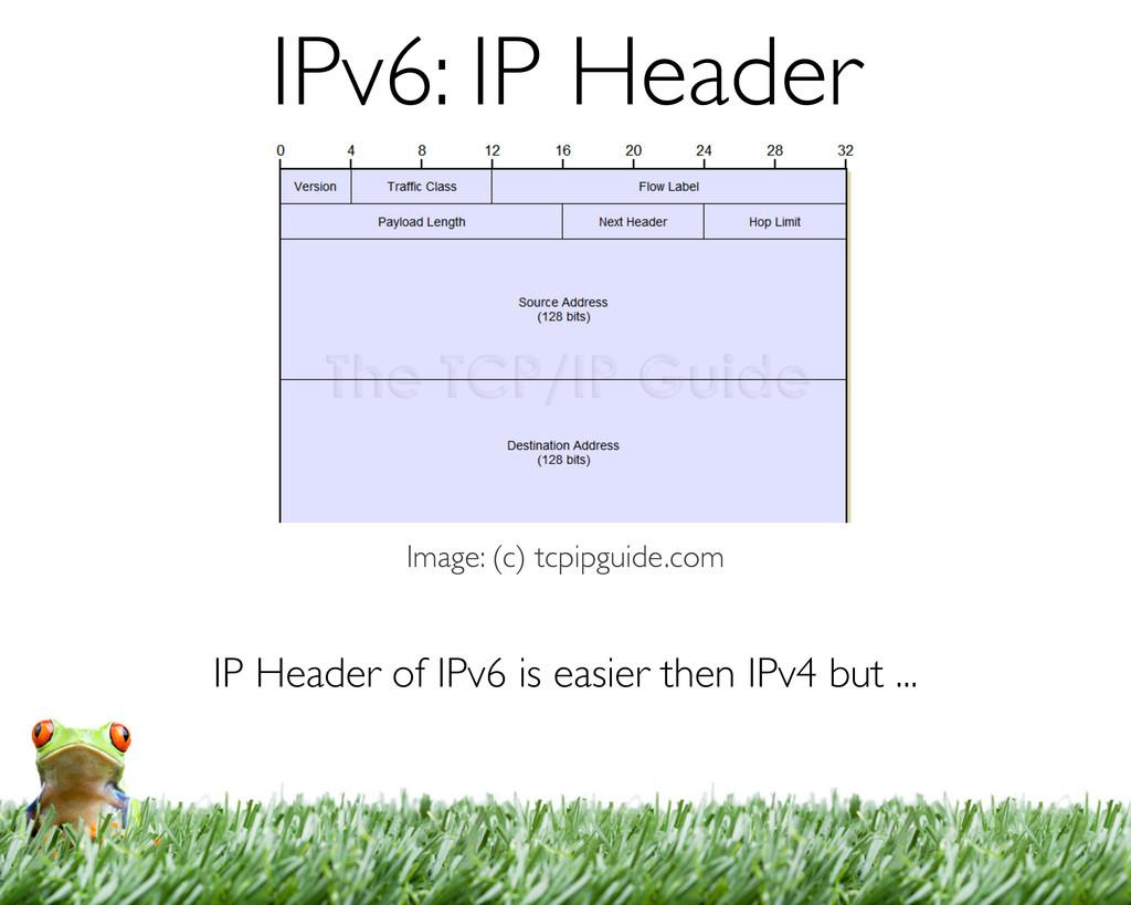 IP Header of IPv6 is easier then IPv4 but ... I...