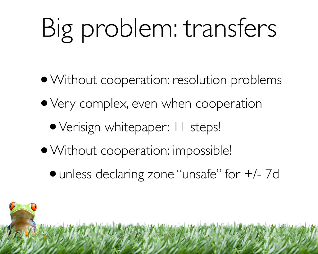 Big problem: transfers •Without cooperation: re...