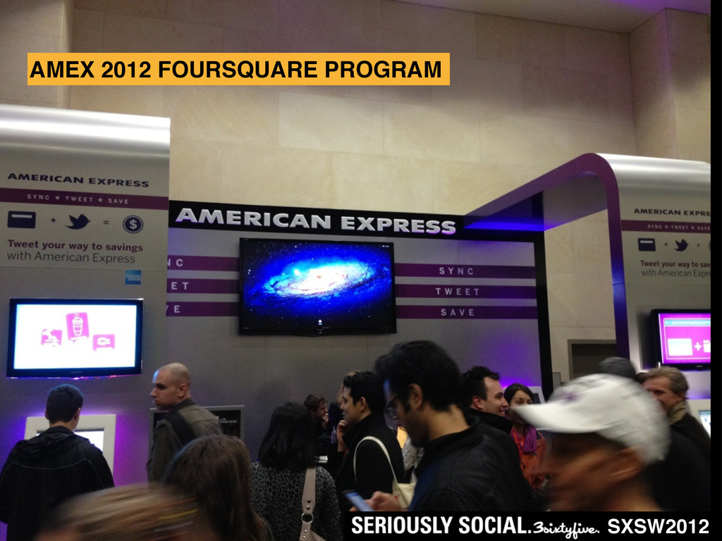 SXSW2012 AMEX 2012 FOURSQUARE PROGRAM