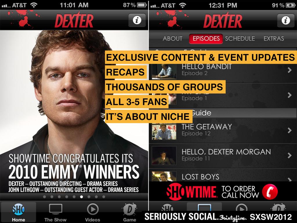 SXSW2012 EXCLUSIVE CONTENT & EVENT UPDATES RECA...