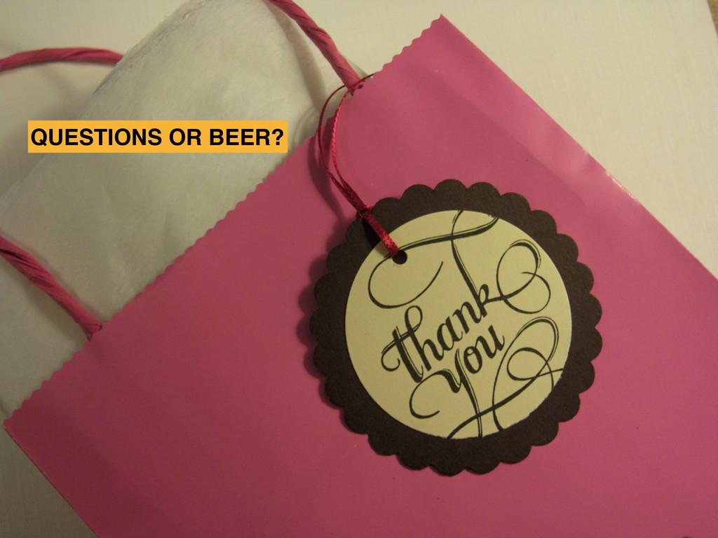 SXSW2012 QUESTIONS OR BEER?