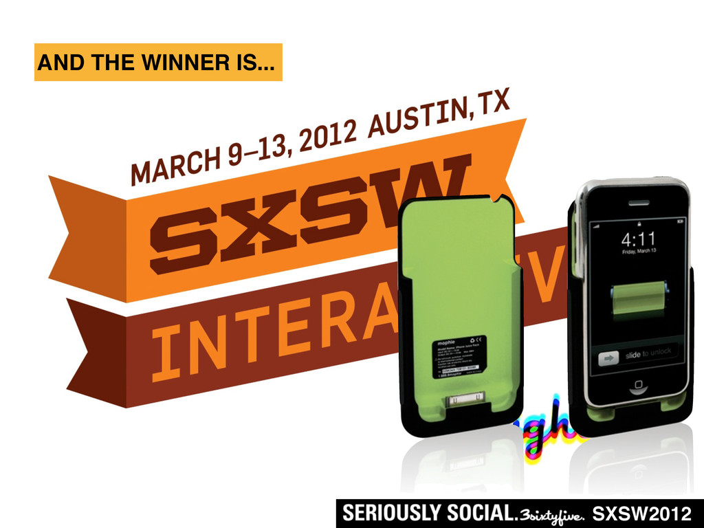 SXSW2012 AND THE WINNER IS...