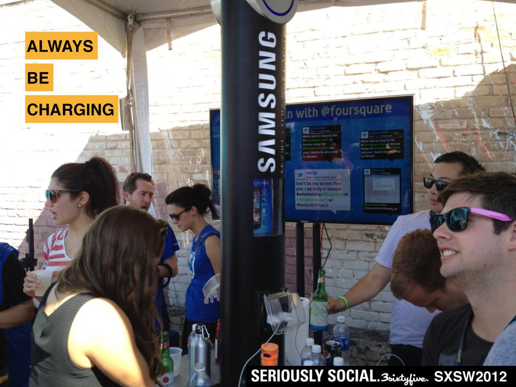 ALWAYS SXSW2012 BE CHARGING