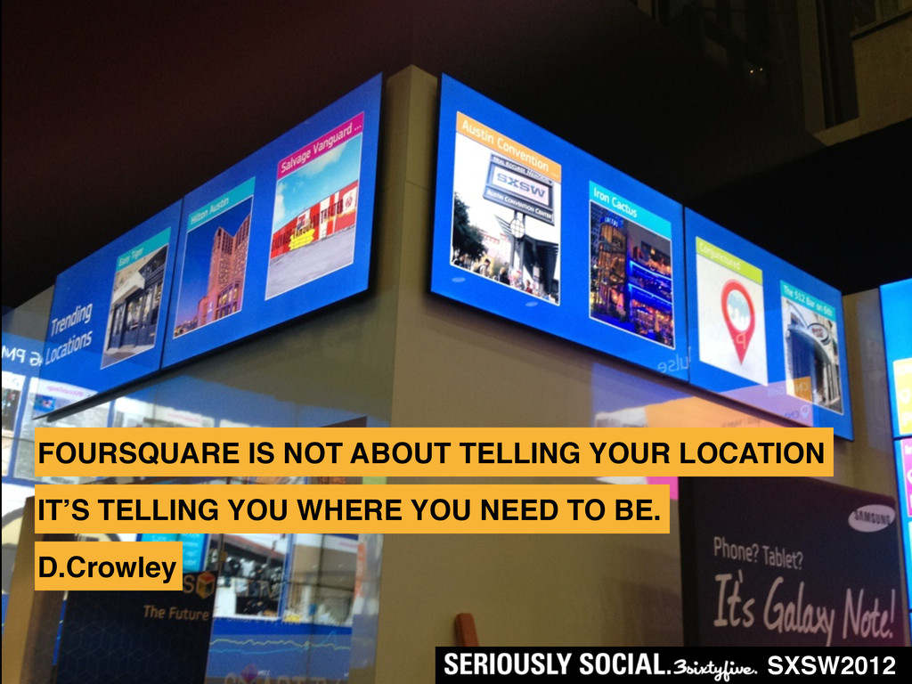 FOURSQUARE IS NOT ABOUT TELLING YOUR LOCATION S...