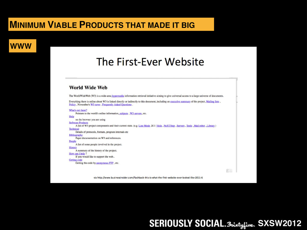 SXSW2012 MINIMUM VIABLE PRODUCTS THAT MADE IT B...