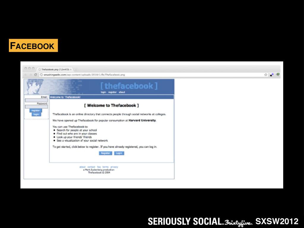 SXSW2012 FACEBOOK