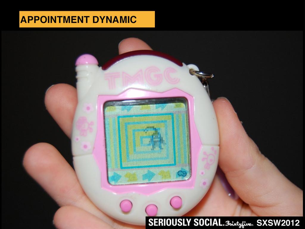 SXSW2012 APPOINTMENT DYNAMIC