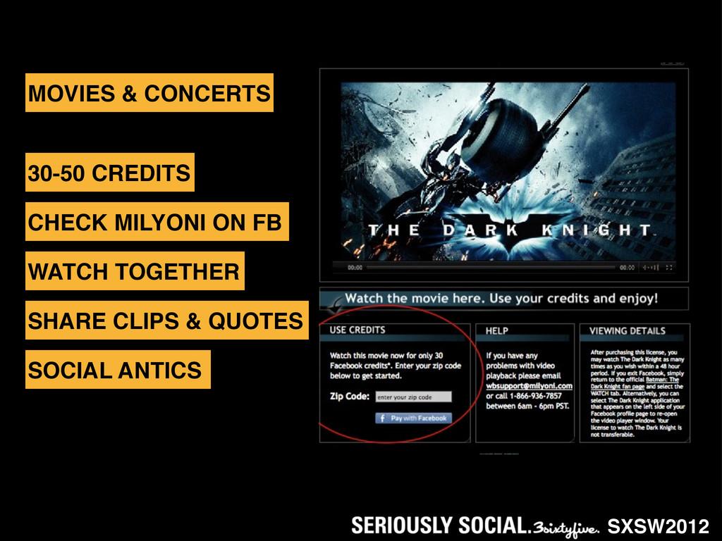 SXSW2012 MOVIES & CONCERTS 30-50 CREDITS CHECK ...