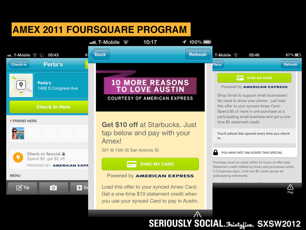 AMEX 2011 FOURSQUARE PROGRAM SXSW2012