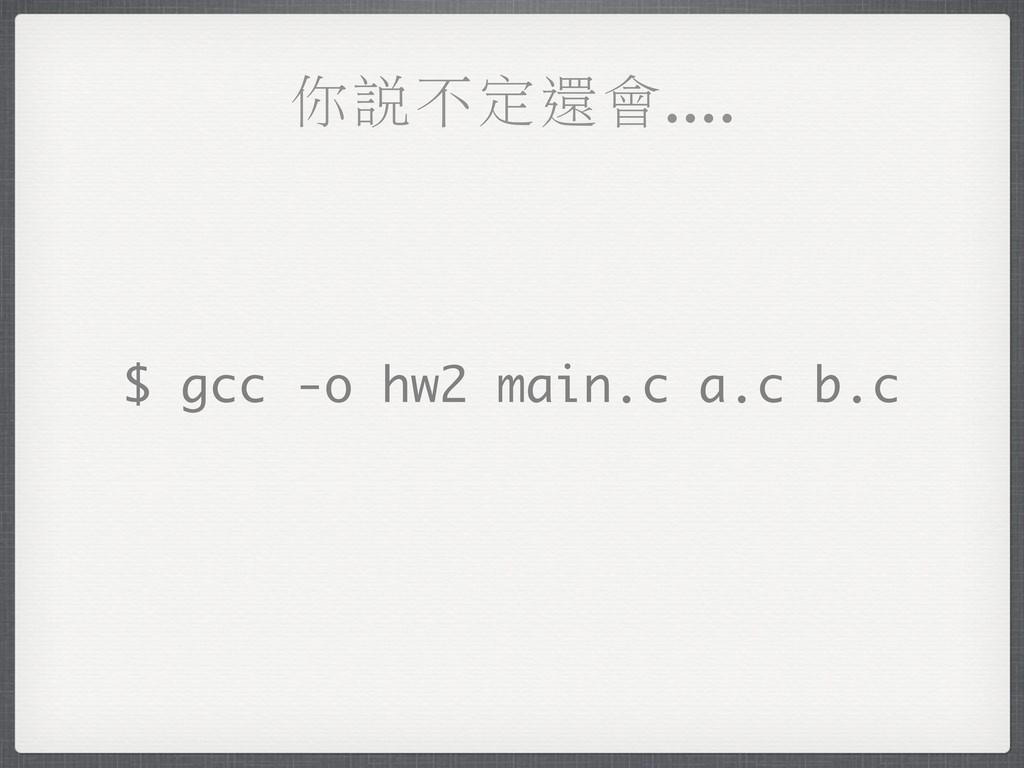 ЫႭʔ֛ᒔึ.... $ gcc -o hw2 main.c a.c b.c