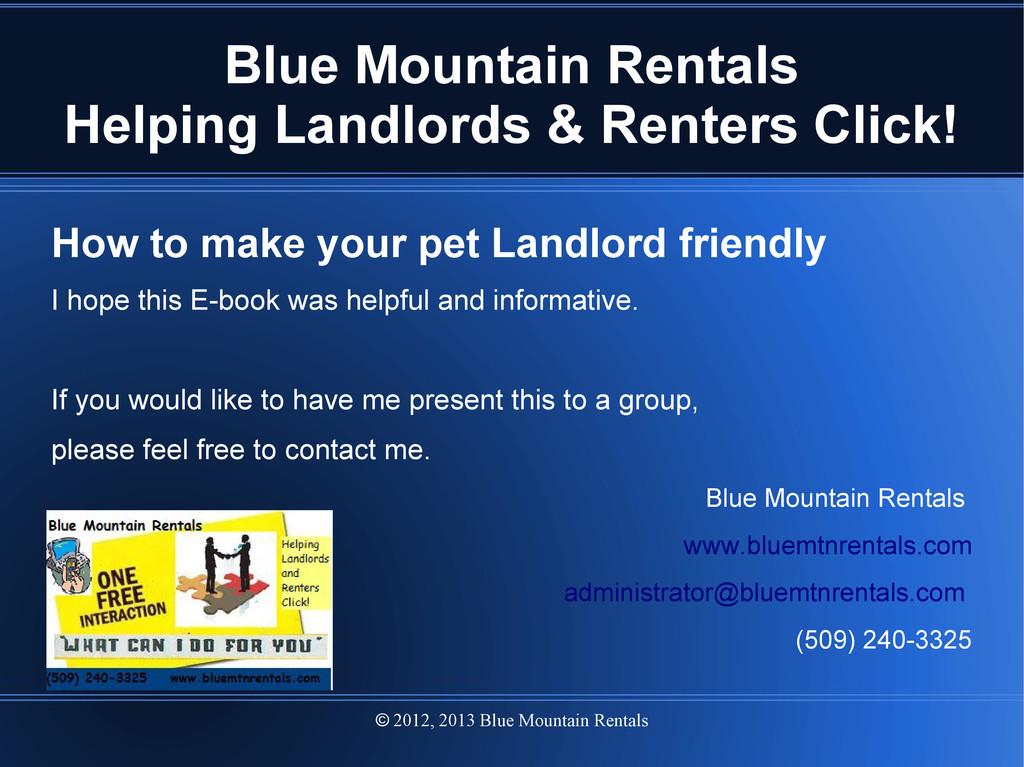 2012, 2013 Blue Mountain Rentals  Blue Mountai...