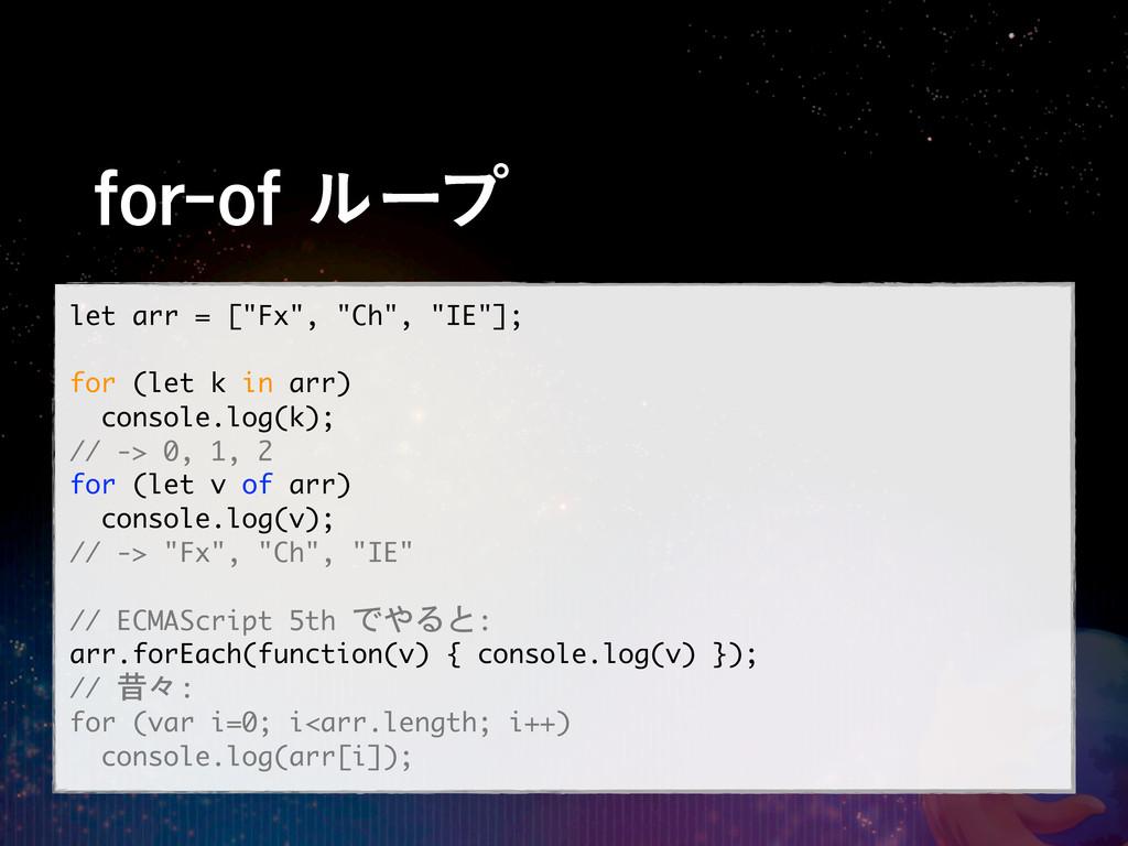"""GPSPGϧʔϓ let arr = [""""Fx"""", """"Ch"""", """"IE""""]; f..."""