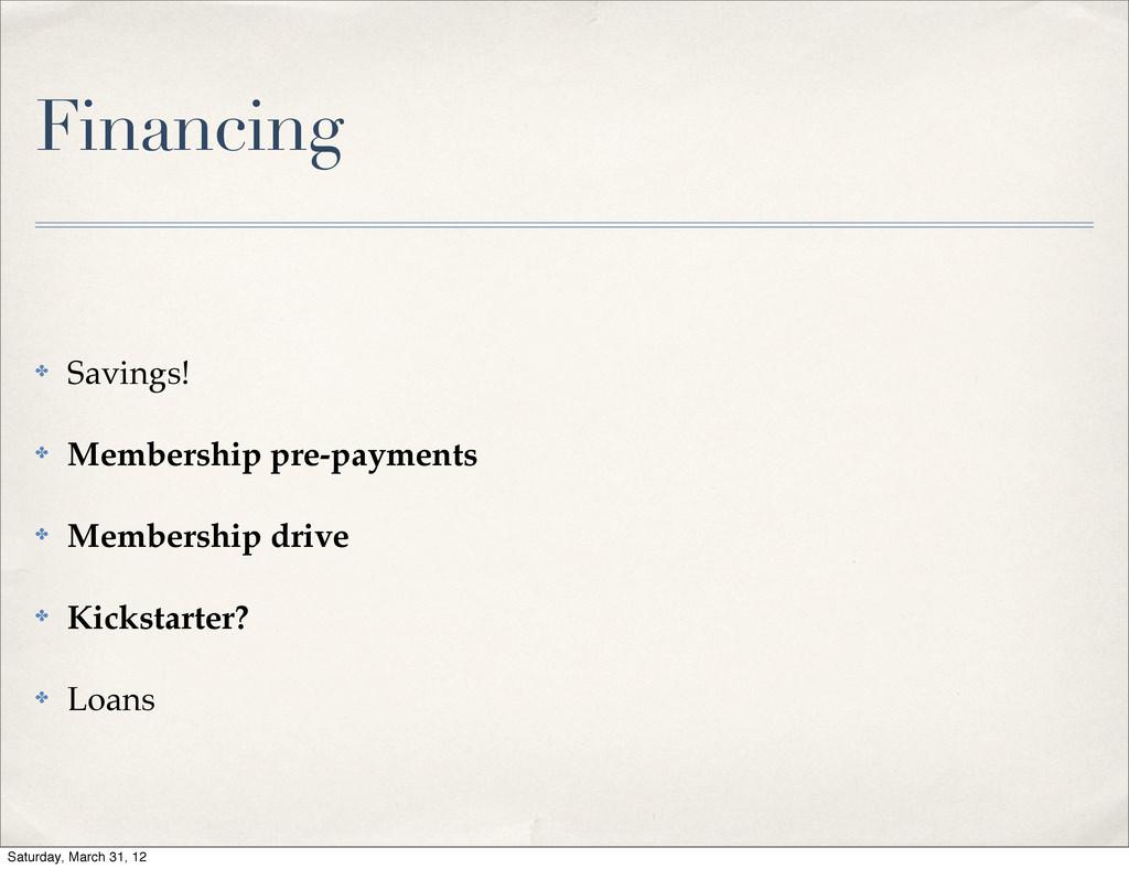 ✤ Savings! ✤ Membership pre-payments ✤ Membersh...