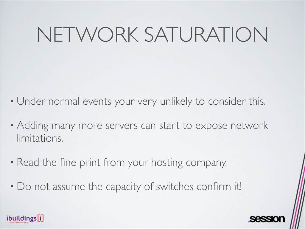 NETWORK SATURATION • Under normal events your v...