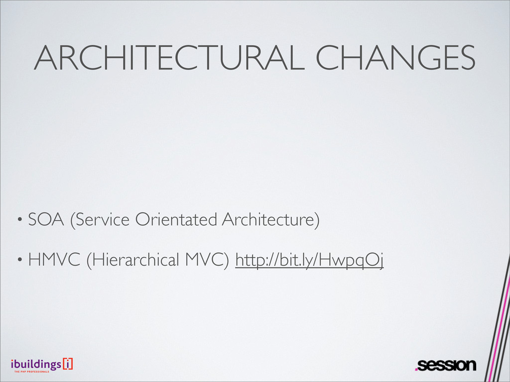 ARCHITECTURAL CHANGES • SOA (Service Orientated...