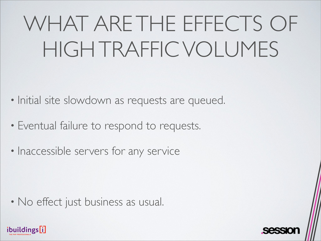 WHAT ARE THE EFFECTS OF HIGH TRAFFIC VOLUMES • ...