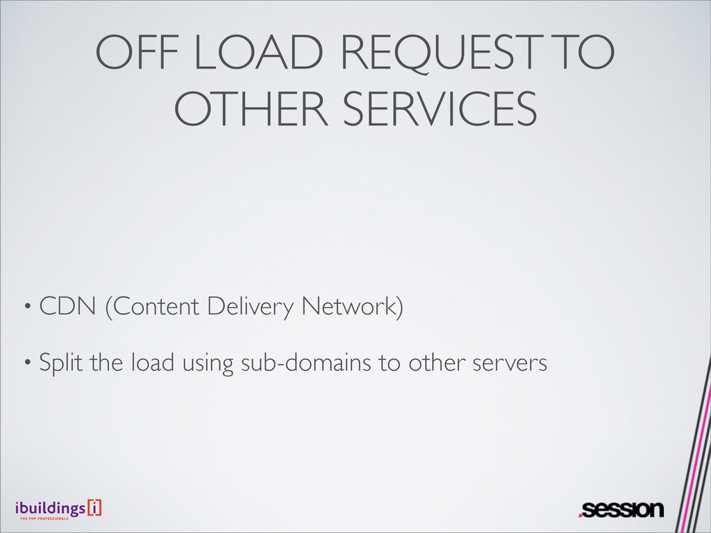 OFF LOAD REQUEST TO OTHER SERVICES • CDN (Conte...