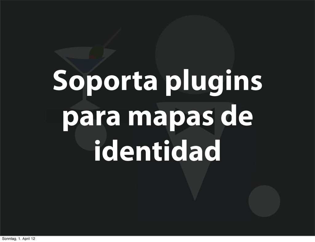 Soporta plugins para mapas de identidad Sonntag...