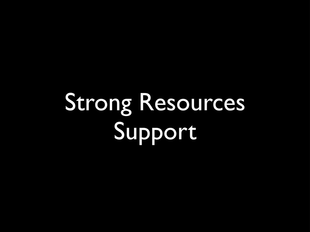 Strong Resources Support