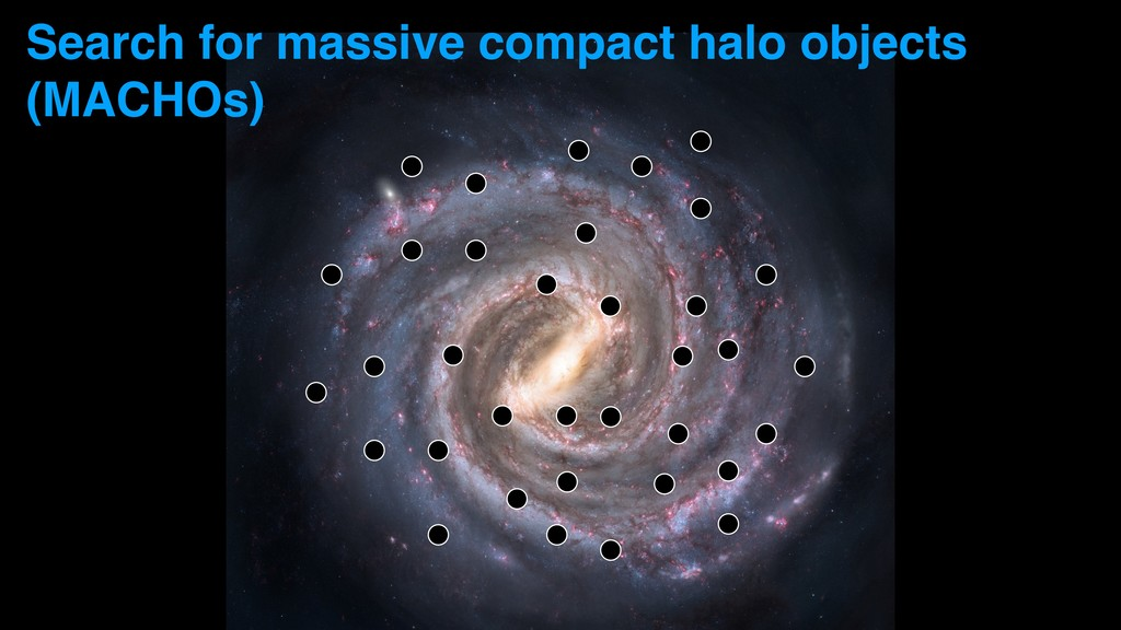 Search for massive compact halo objects (MACHOs)