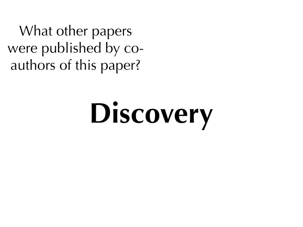 What other papers were published by co- authors...