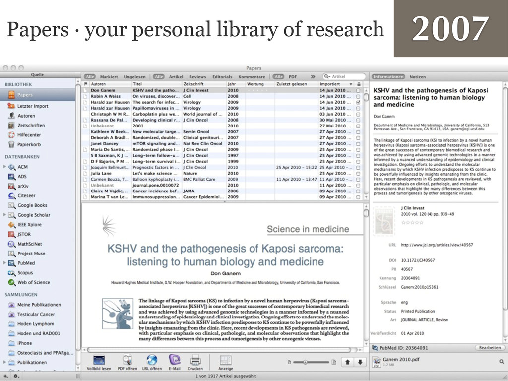 Papers · your personal library of research 2007