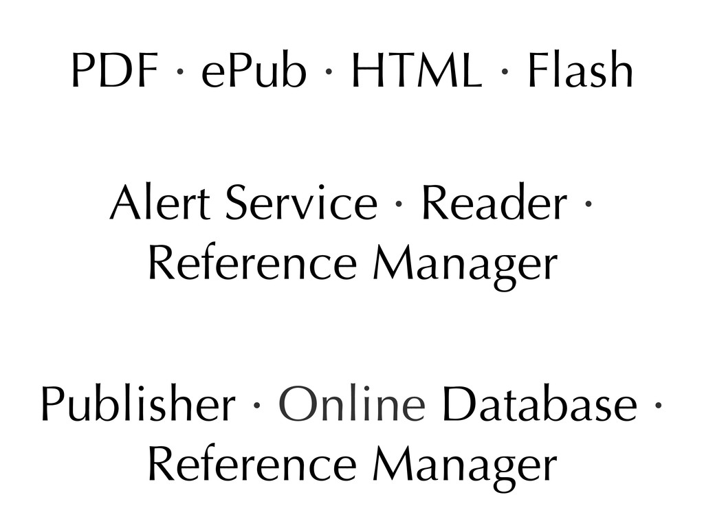 PDF · ePub · HTML · Flash Alert Service · Reade...
