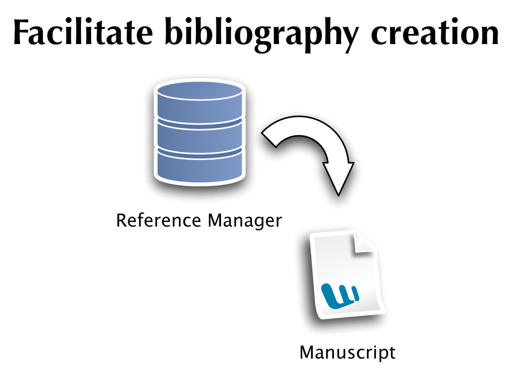 Manuscript Reference Manager Facilitate bibliog...