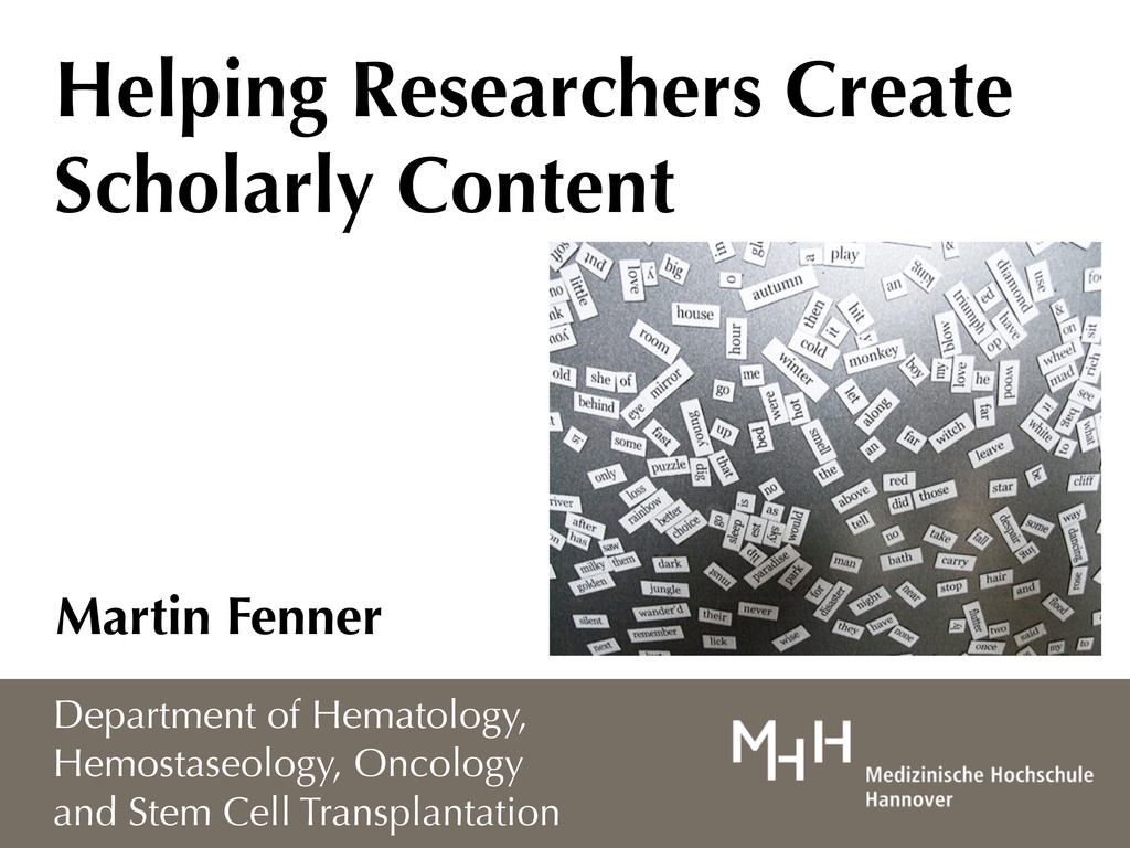 Helping Researchers Create Scholarly Content Ma...