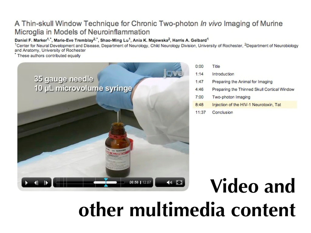 Video and other multimedia content