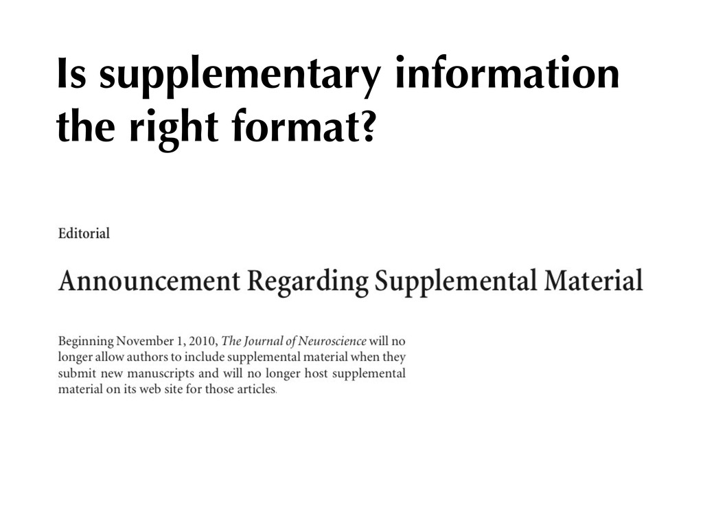 Is supplementary information the right format?