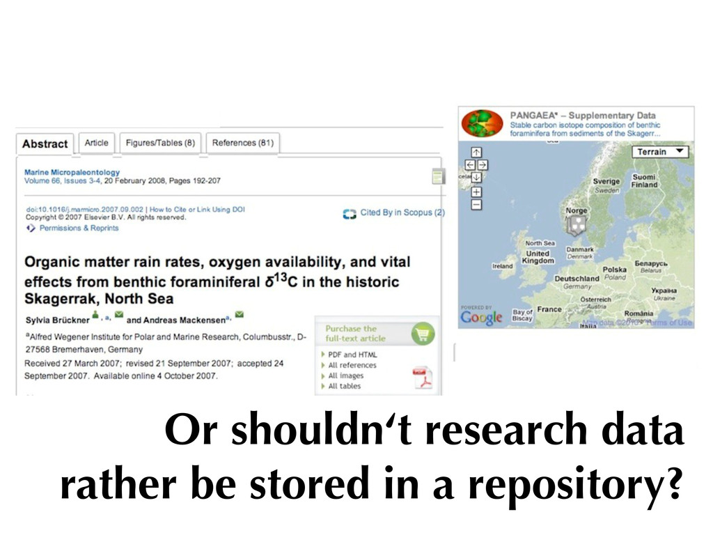 Or shouldn't research data rather be stored in ...