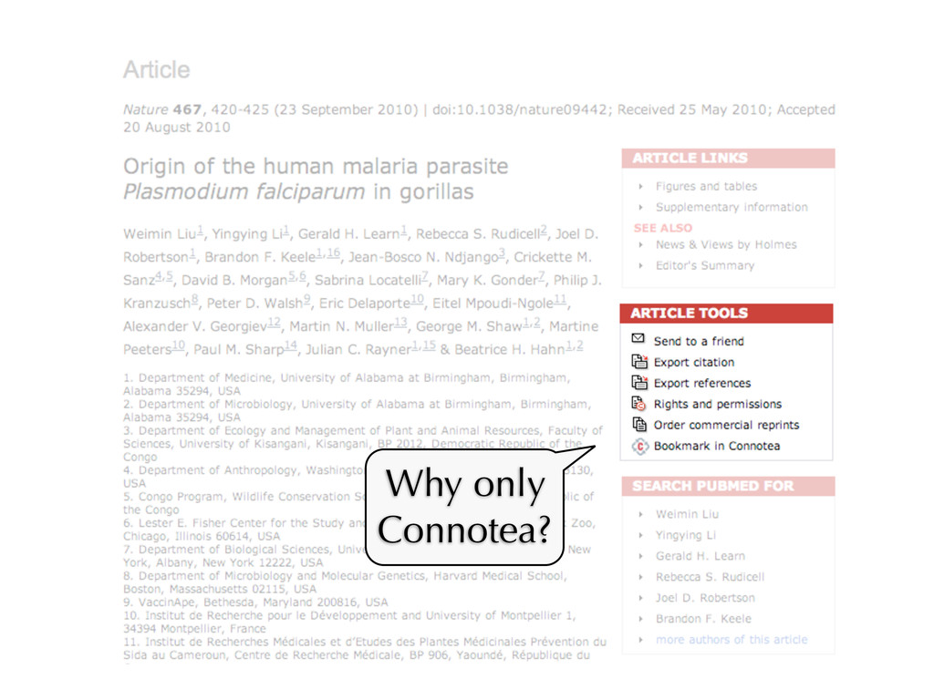 Why only Connotea?