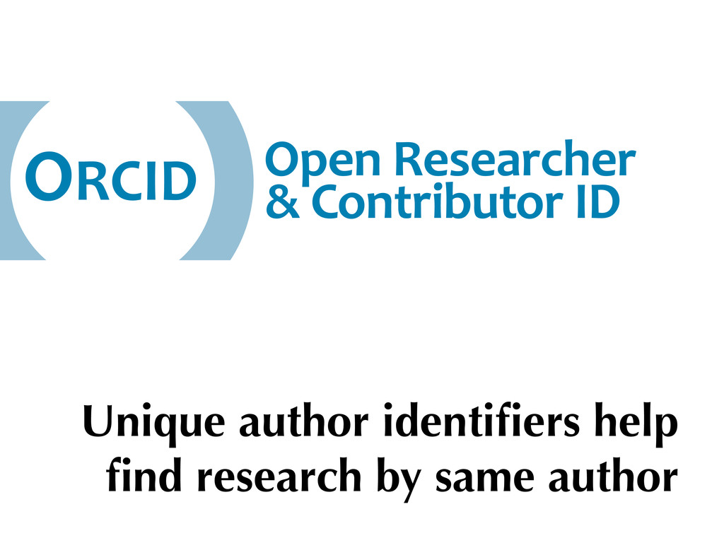 Unique author identifiers help find research by s...