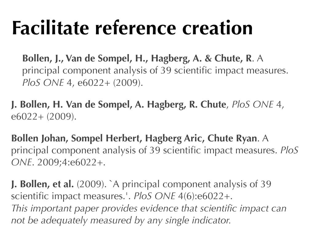 Bollen, J., Van de Sompel, H., Hagberg, A. & Ch...