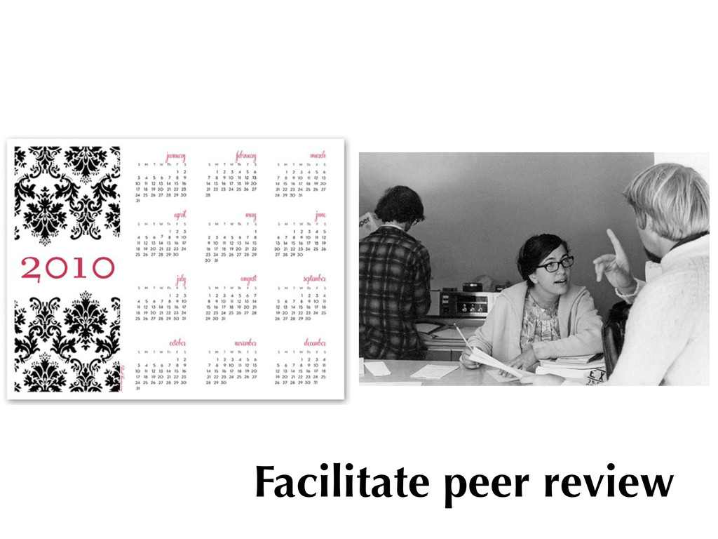 Facilitate peer review