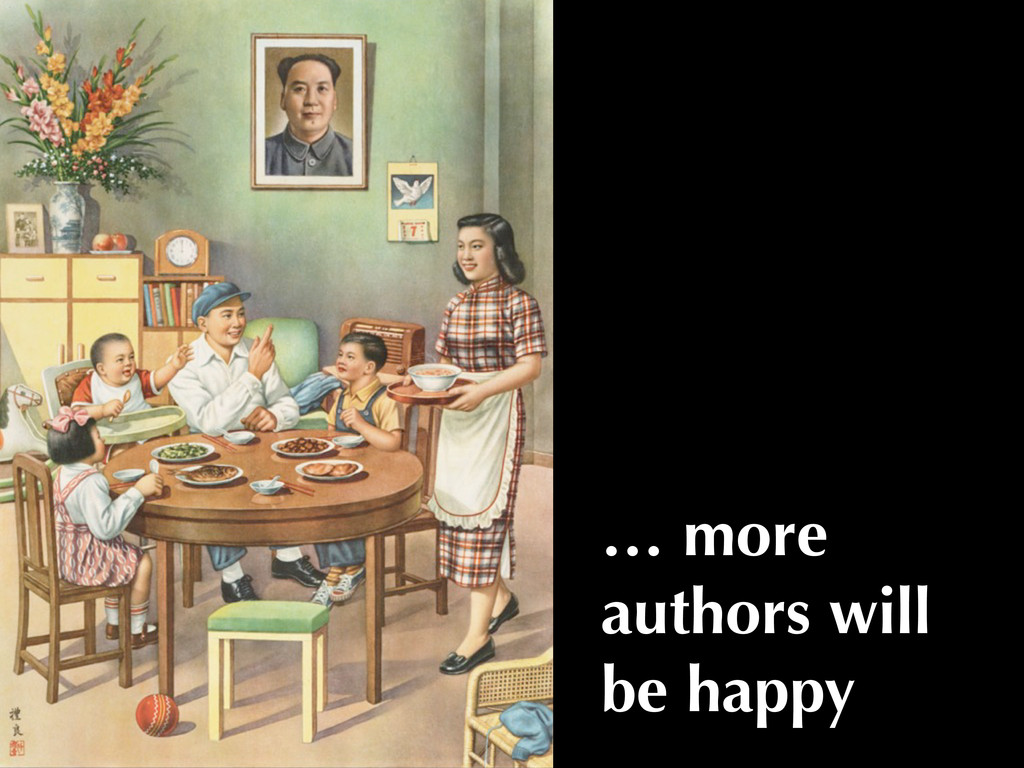 … more authors will be happy