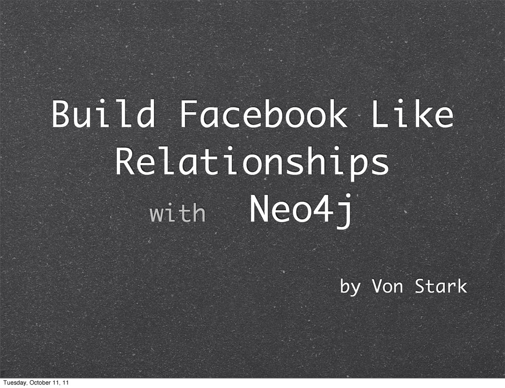 Build Facebook Like Relationships with Neo4j by...
