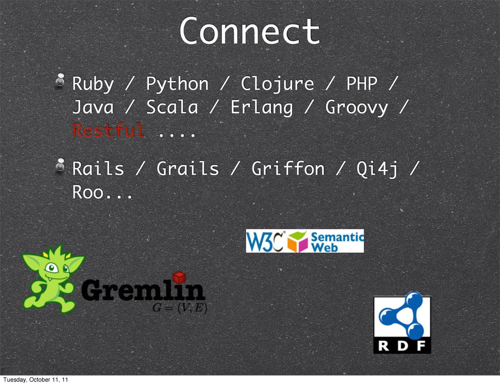Connect Ruby / Python / Clojure / PHP / Java / ...