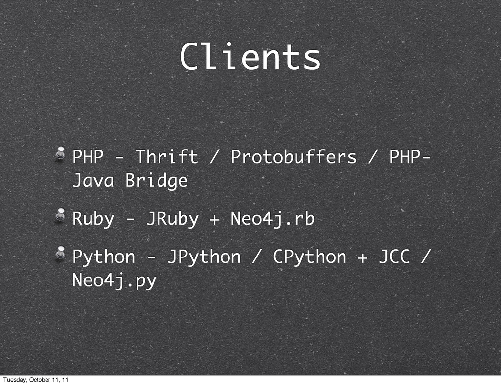 Clients PHP - Thrift / Protobuffers / PHP- Java...