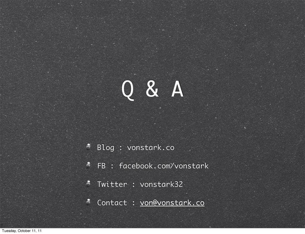 Q & A Blog : vonstark.co FB : facebook.com/vons...
