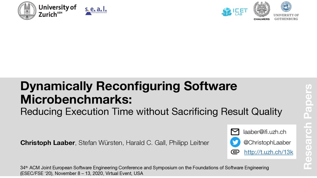 Dynamically Reconfiguring Software Microbenchma...