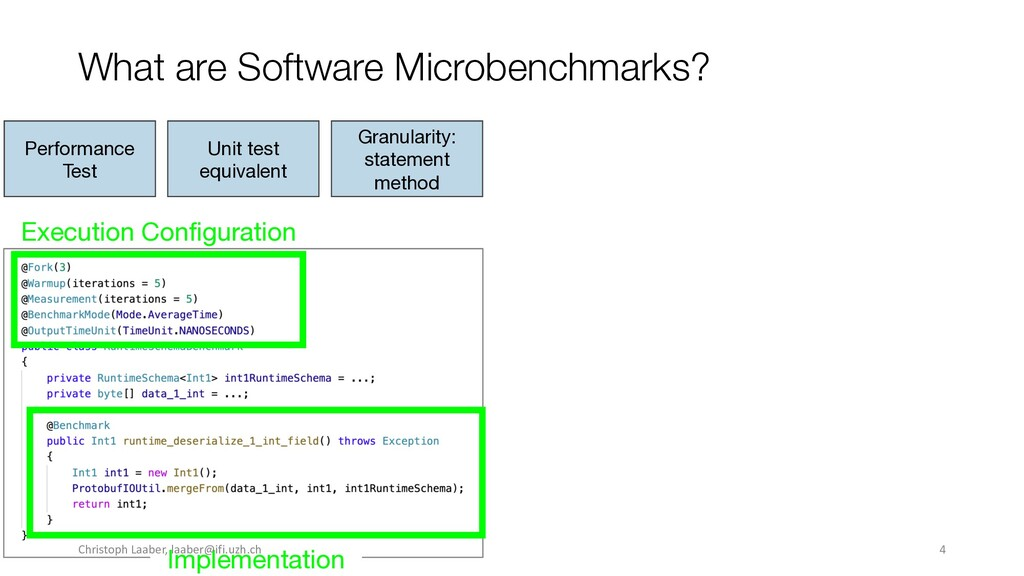 What are Software Microbenchmarks? Execution Co...
