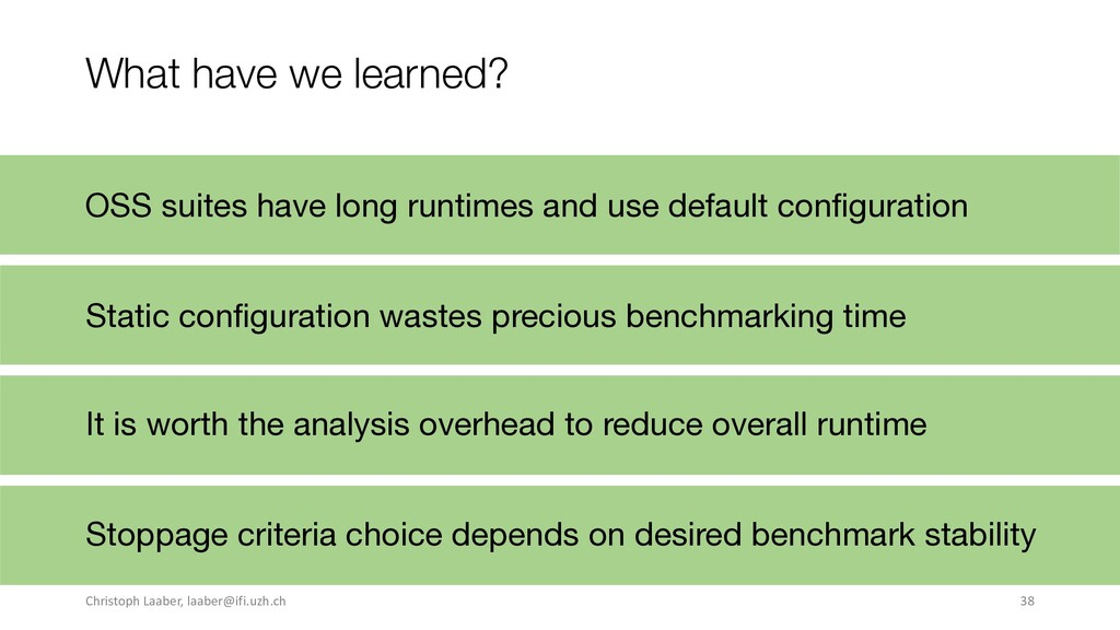What have we learned? Static configuration wast...